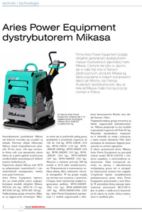 Aries Power Equipment dystrybutorem Mikasa